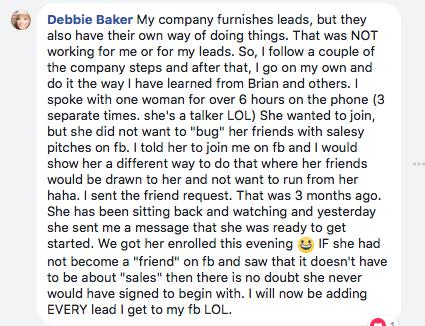 recruit on Facebook