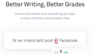social media Grammarly